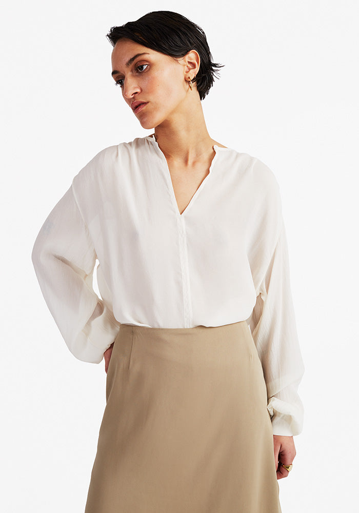 sheer blouse off-white