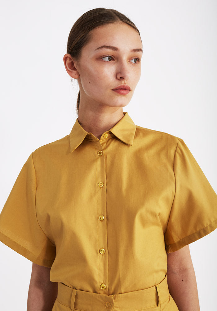 Short Sleeve shirt mustard