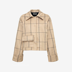 Short wool jacket beige