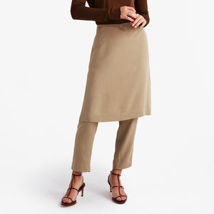 Skirt Pants in Taupe (1688679055429)
