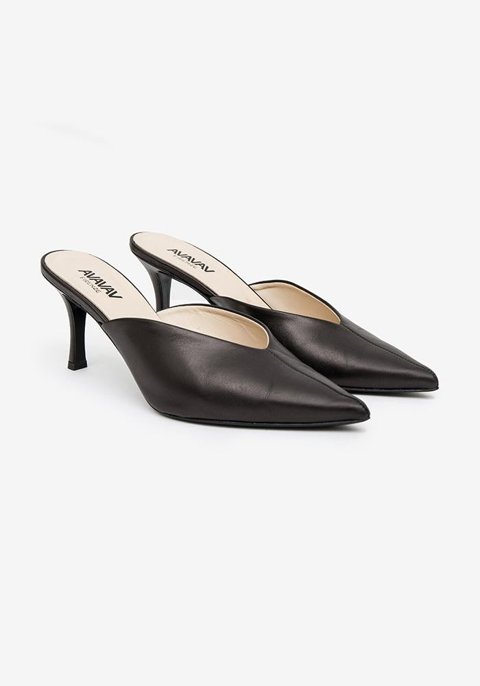 Slip in Pumps Black - AVAVAV-Firenze