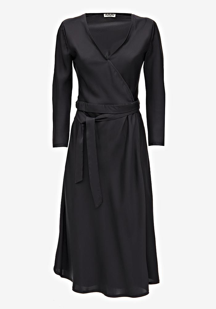 Wrap dress black - AVAVAV-Firenze