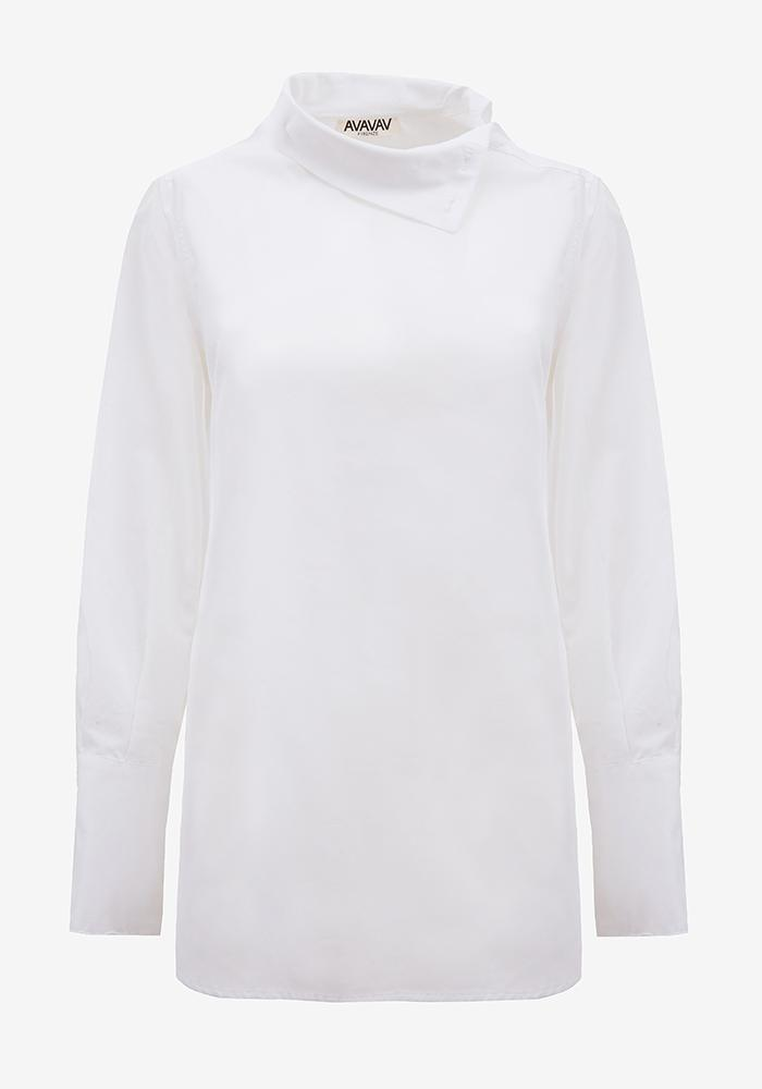 Turtleneck Poplin Shirt in Off White - AVAVAV-Firenze