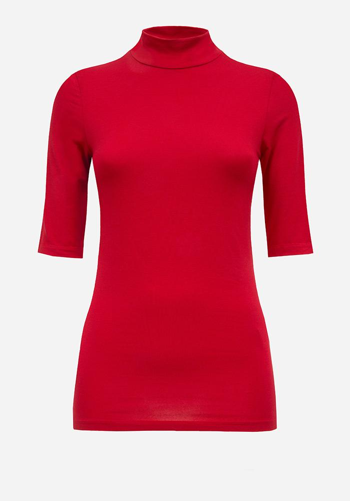 Short Sleeve Turtleneck in Red - AVAVAV-Firenze