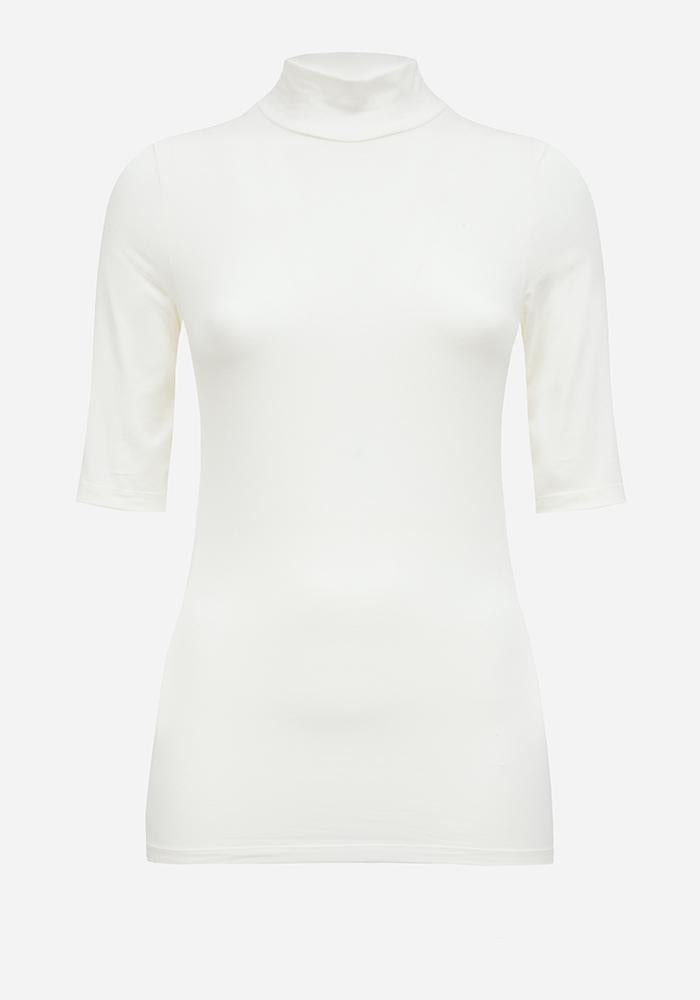Short Sleeve Turtleneck in Off-white - AVAVAV-Firenze (1688673189957)