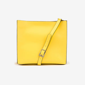 Leather Suede Bag Yellow
