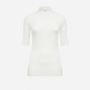 Short Sleeve Turtleneck in Off-white (1688673189957)