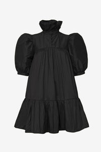 Mini Ruffle Dress Short Sleeve, Black