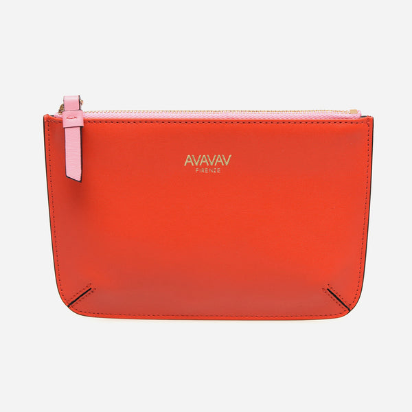 Small Pouch in Bright Red