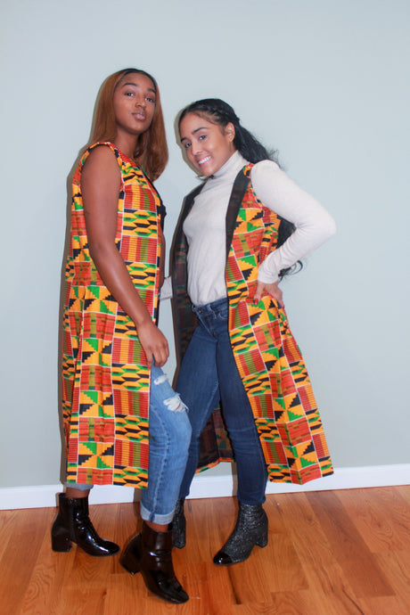 Sleeveless Kente Coat
