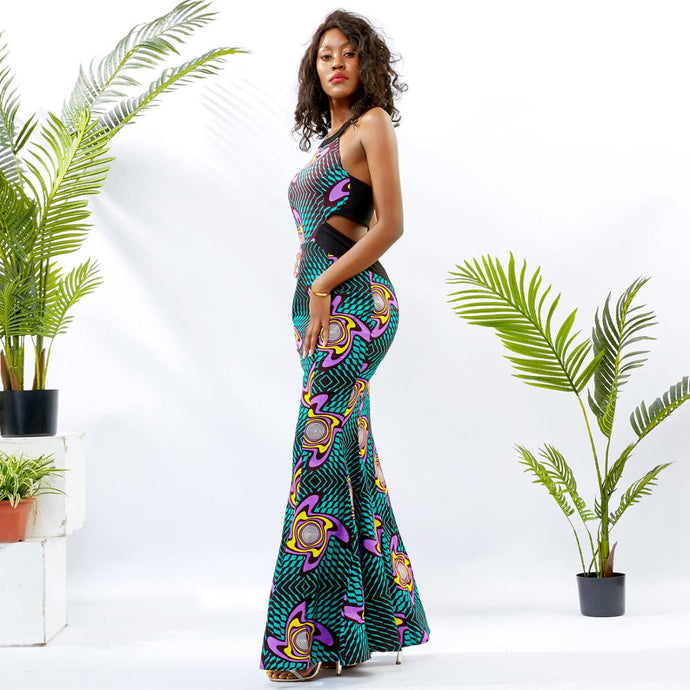 Halter Traditional Ankara Dress