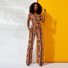 Long Wrap V Neck  Jumpsuit