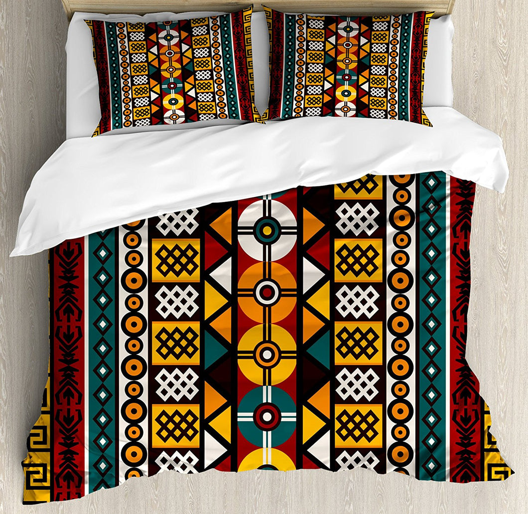 Kente Pattern Duvet Cover Set