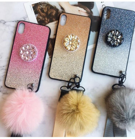 Blinky Phonecase With Phoneholder and Furball
