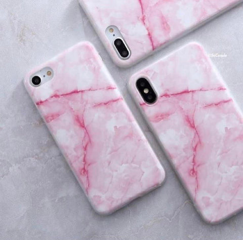 Pink Marble Case for iPhone X
