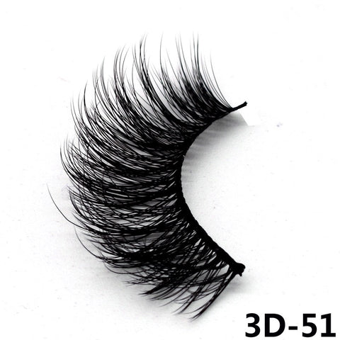 5 Pairs 3D Faux Mink Hair Soft False Eyelashes Fluffy Wispy Thick Lashes Handmade