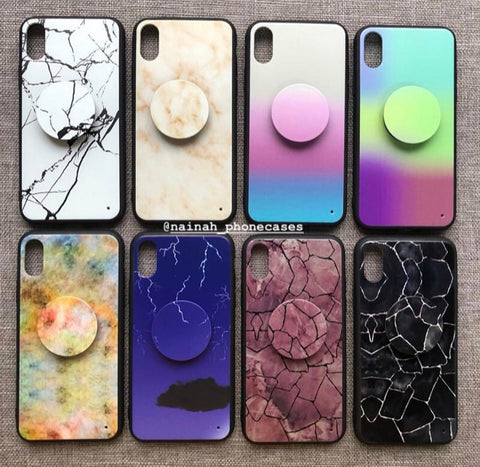 Nainah Branded Crack  Marble Case