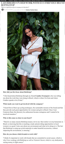 Introducing BOTTLETOP Brand Ambassador Lais Ribeiro