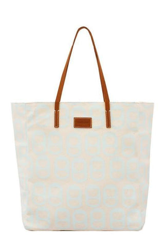 Lisa Tote Bag - Opal Blue - Front