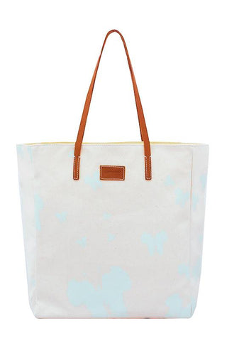 Lisa AFRICA'S OUT! Tote Bag - Opal Blue - Front