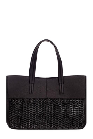 Lais Tote Bag - Black - Front