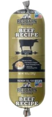 Redbarn Naturals Dog Food Beef Roll - 4 oz / 10 oz / 2 lb - Woof Woof Baby