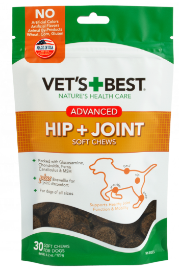 Vet's Best ADVANCED Hip & Joint Soft Chews Dog Supplements, 30 Day Supply - Woof Woof Baby