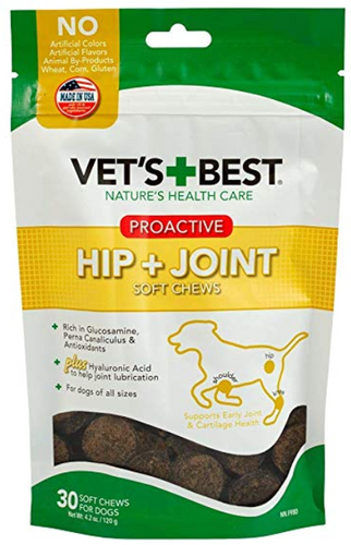 Vets Best Hip + Joint PROACTIVE Soft Chew - 4.2 Oz/30 Day - Woof Woof Baby