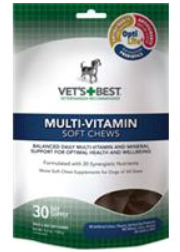Vet's Best Multi-Vitamin Soft Chews Dog Supplements-  30 Day Supply - Woof Woof Baby