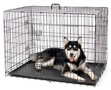 Load image into Gallery viewer, Dog Cage Crate Double-Door Pet Kennel Crate. Collapsible. 5 Sizes