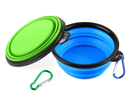 Portable Silicone Dog Bowl. Collapses Flat! - Woof Woof Baby