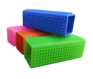 Silicone Brick Removes Pet Fur from Furniture, Rugs and Vehicle Seats - Woof Woof Baby