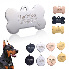 Load image into Gallery viewer, Personalized Dog Tag - Stainless Steel - Name Engraved ID Tags