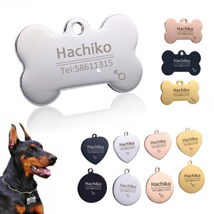 Personalized Dog Tag - Stainless Steel - Name Engraved ID Tags
