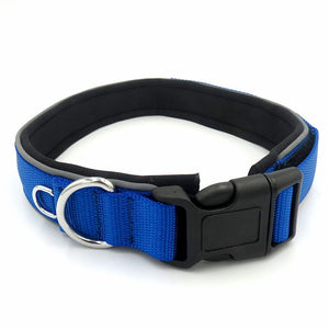 Pet Dog Collar Magic Tape Size Adjustable Reflective Padded Soft Diving Material Pet Products Cat Dog Collar