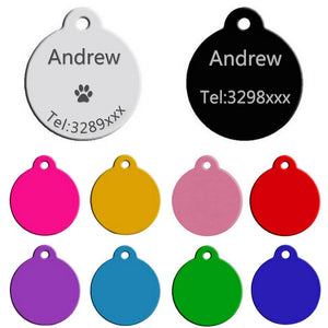 Engraved Customized & Personalized Dogs ID Tag Collar