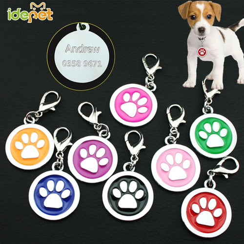 Free Engraved Collar for Dog Cats Customized Dogs Collars Harnesses Dog Sheet Personalized Dogs ID Tag Name Phone Pet Product 20