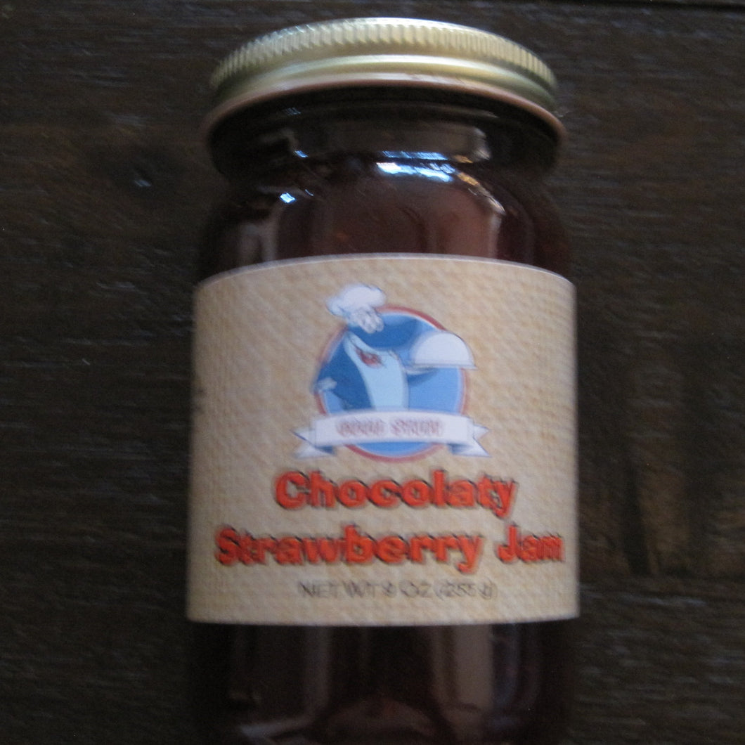 chocolaty strawberry jam