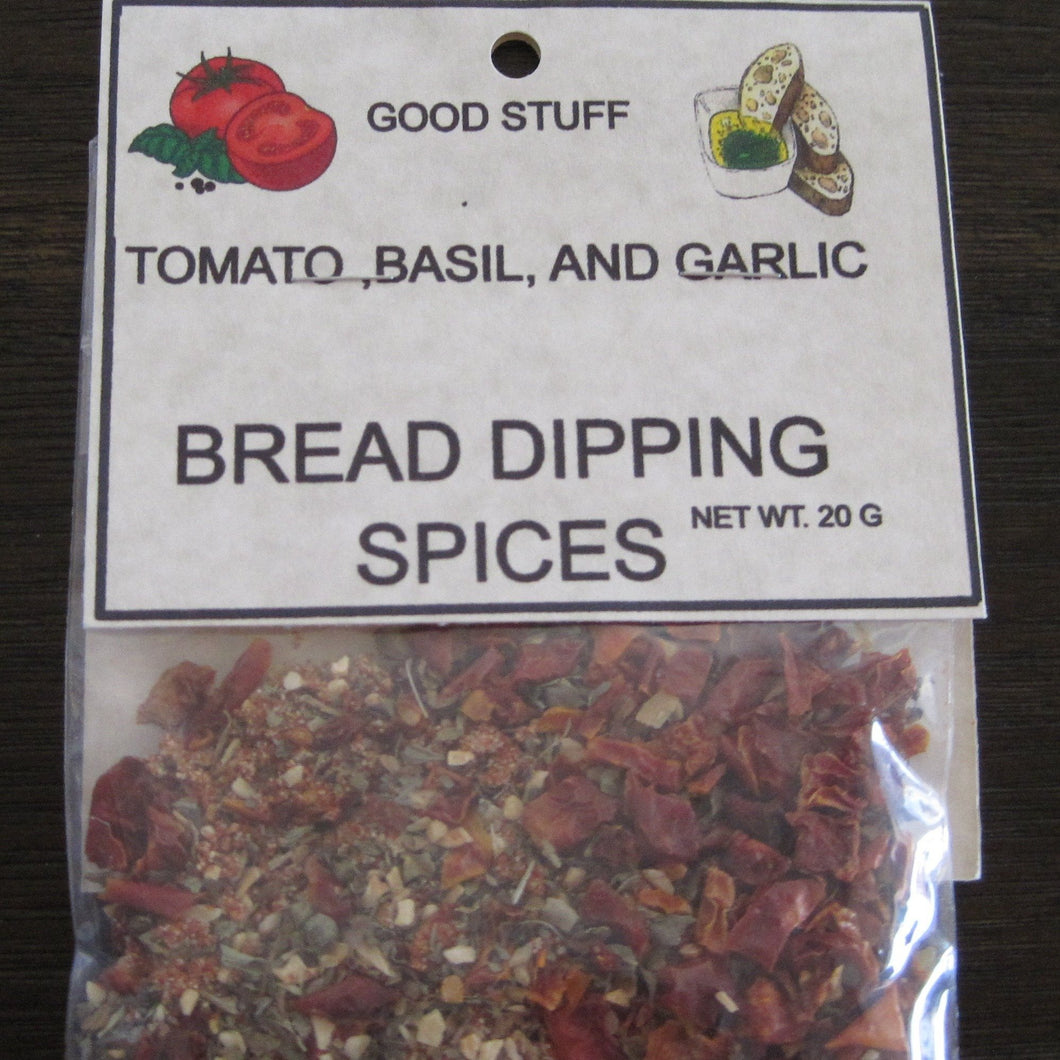 TOMATO BASIL AND GARLIC BREAD DIPPING SPICES