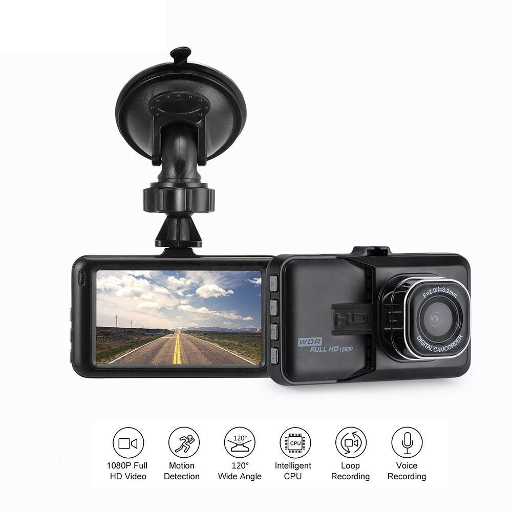 1080P Mini 3 Inch Car DVR Camera 360 Rotation DashCam Motion Detection/G-sensor