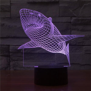 3D Shark Lamp Visual Light Effect