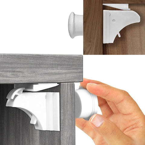 4PCS Baby Safety Magnetic Cabinet Locks (No Drilling Required!)
