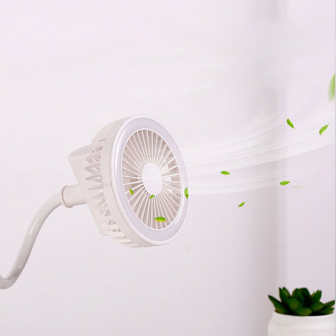 Image of Portable Adjustable Rechargeable USB Fan With LED light