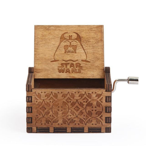Image of Antique Carved Music Box Game Of Thrones,Star Wars