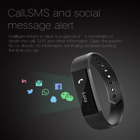 Bluetooth Smart Bracelet The Fitness Tracker Heart Rate Monitor