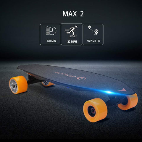 Electric Skateboard Max 2 Wireless Remote Control Light Motorized Board