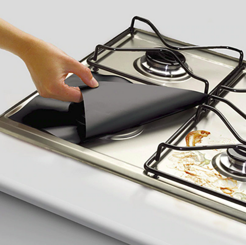 Image of 4 PCS Reusable Gas Stove Protectors Mat