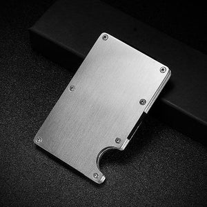 Money Clip Credit Card ID Holder With RFID Anti-theft Chip