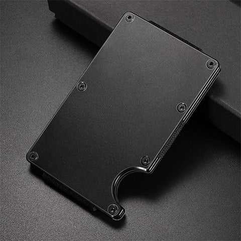 Image of Money Clip Credit Card ID Holder With RFID Anti-theft