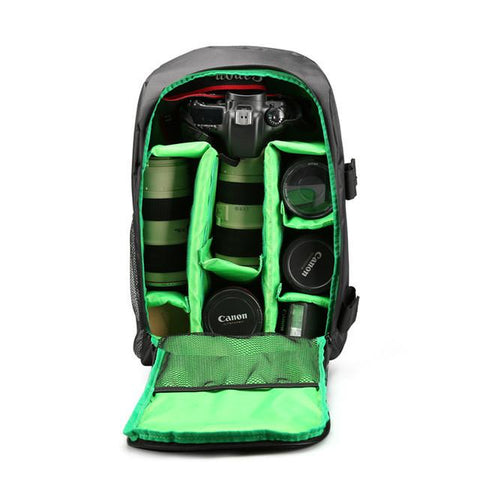 Image of Multi-functional Waterproof Digital DSLR Photo Backpack W/ Rain Cover
